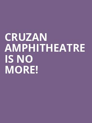 Cruzan Amphitheatre is no more